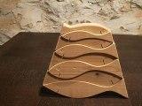 puzzle artisanal de 8 poissons en bois massif de cèdre issus de la forêts local d'Arques dans l'Aude