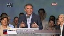 EVENEMENT,Université d'été du Modem, discours de François Bayrou