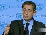 Ouverture de la 66e AG des Nations Unies : discours de N. Sarkozy