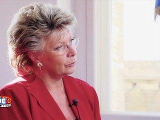 Interview de Viviane Reding par Alain Bazot ; les contenus numériques