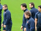 French rugby team trains before All Blacks match