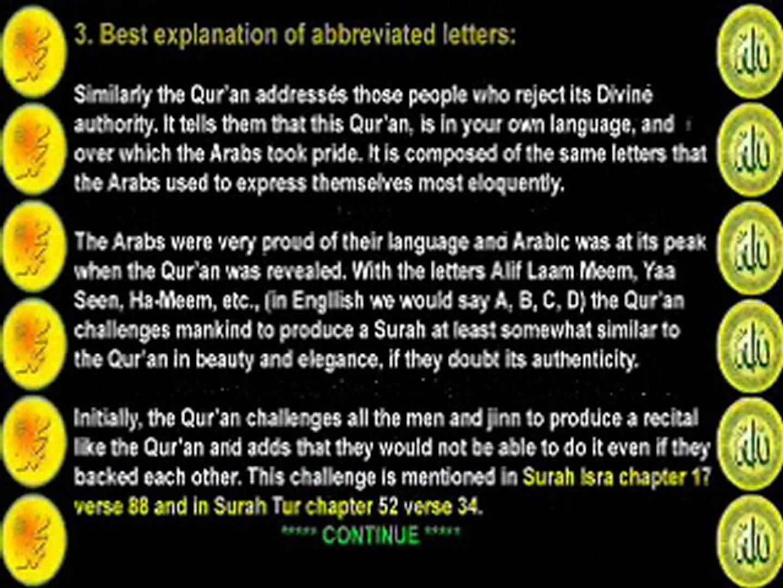 Meanings of Alif Lam Mim