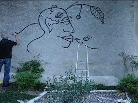 """Mural """"Suites Béranger"""" Tours"""