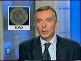 Extrait Du journal télévisé 12.14 L'anniversaire de L'euro Emission Du 31 Decembre 2002 France 3