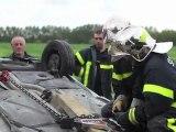 Ham : Simulation de désincarcération par les sapeurs-pompiers