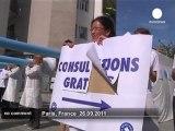 Manifestation de cotons-tiges à Paris - no comment