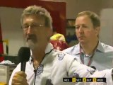 BBC F1 2011 - 14 Singapore GP - Angry Felipe Massa interrupts Lewis Hamilton interview