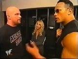 Stone Cold Steve Austin & The Rock Backstage before Tag match vs Undertaker & Kane WWF Raw 2001