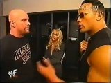 Stone Cold Steve Austin & The Rock Backstage before Tag match vs Undertaker & Kane WWF Raw 2001