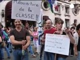French private & state teachers strike together