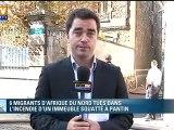Six migrants morts dans l'incendie d'un squat