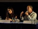 Salma Hayek and Antonio Banderas promote Puss in Boots