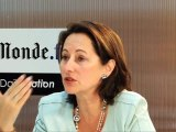 Ségolène Royal lors du Chat vidéo Le Monde.fr / Dailymotion - 29/09/11