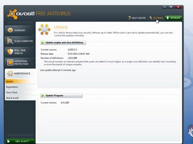 How to Update Avast, Signature and Engine, Free Anti-Virus