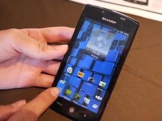 Sharp Aquos SH80F, un smartphone 3D avec convertion en temps réel des contenus 2D vers 3D ! 1/2