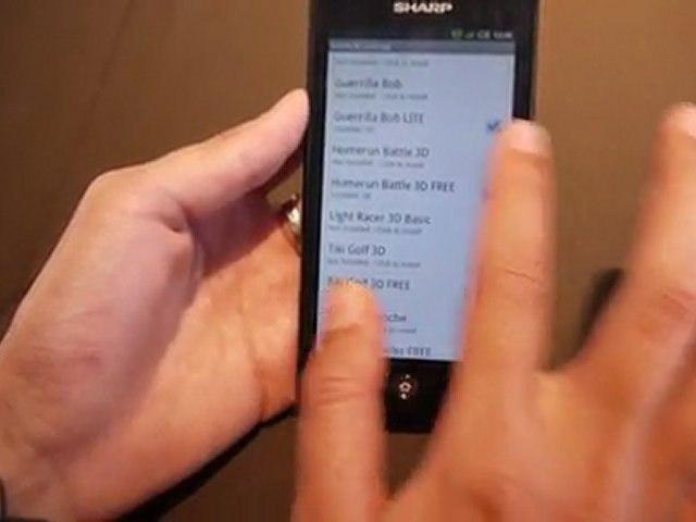 Sharp Aquos SH80F, un smartphone 3D avec convertion en temps réel des contenus 2D vers 3D ! 2/2