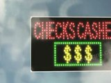 Enormously Increase Walk-ins For Your Check Cashing Small business Having an LED Checks Cashed Sign