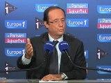 """Hollande : """"le projet socialiste m'engage"""""""