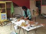 Christina Bellagamba, Plasticienne - Land art.  Festival d'art contemporain de Saint-Florent-sur-Auzonnet 2011