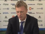 Réactions de David Moyes, entraineur d'Everton