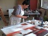 Danielle Lequin, peintre plasticienne. Festival d'art contemporain de Saint-Florent-sur-Auzonnet 2011