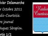 Olivier Delamarche Radio Courtoisie 1 Octobre 2011 (1/2)