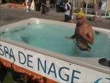Nage sportive dans un spa de nage Clair Azur à la Foire de Marseille 2011