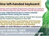 Slim-Line Left-Handed Keyboard: Ergonomic Keyboards for Left-Handed Users