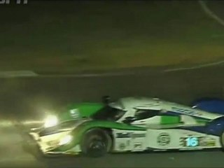 ALMS, Road Atlanta 2011 - Dyson Mazda LMP1, LMPC accident, and yelow flag