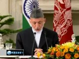 Karzai in India amid tensions with Pakistan