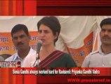 Sonia Gandhi always worked hard for Raebareli- Priyanka Gandhi Vadra