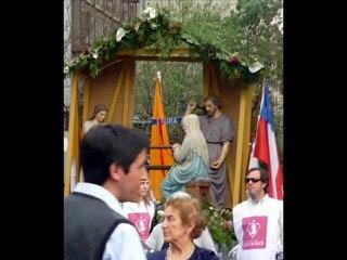 Procesion en Santiago de Chile