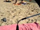 La plage de l'Escala avec Papa&Maman en septembre 2011