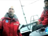 Images embarquées à bord de DCNS 1000 avec Marc Thiercelin et Luc Alphand / Transat Jacques Vabre 2011