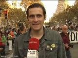 Éxito en la marcha de 'indignados' en Barcelona
