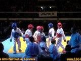 Démonstration du LSC karate à la Nuit des Arts Martiaux de Levallois