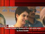 Priyanka Gandhi in Raebareli lists out works done  by Sonia Gandhi