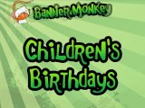 Children's Birthday Banners - Create Personalised Party Banners Online with Banner Monkey