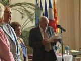 Remise insigne de Chevalier de l'Ordre National du Mérite à Jocelyne Mas