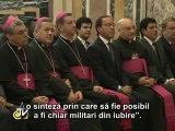 Benedict al XVI-lea: Biserica este întotdeauna pentru pace