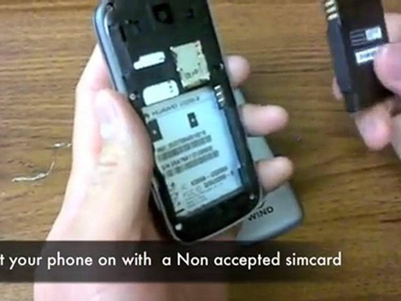 How to Unlock Huawei U3200 by Sim Unlock Code (NCK
