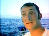 David Raison 2ème de la mini Transat 2003 - Images exclusives à bord du mini entre Lanzarotte et Salvador de Bahia.
