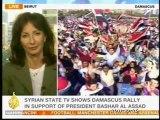SYRIE Dizaines de milliers de manifestants à Damas en soutien à Bachar ell Assad