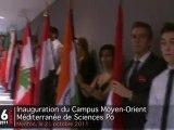Inauguration du Campus Moyen-Orient Méditerranée de Sciences Po