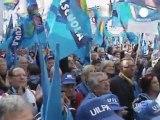 Manifestación contra la reforma laboral en Italia