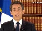 L'allocution télévisée de Nicolas Sarkozy
