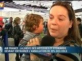 Grève à Air France : retards et annulations