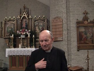 MIRACULOUS: Father Schoonbroodt (a parish priest) relates the double Eucharistic miracle observed in Steffeshausen (Belgium) in 1971