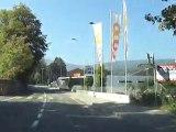 La route entre Areuse et la Coop de Colombier, canton de Neuchâtel, Suisse