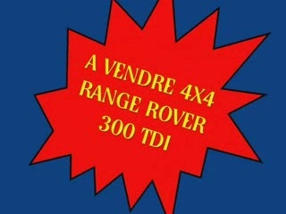 VENTE RANGE ROVER